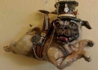 Steampunk Pug by Suzanne Miller